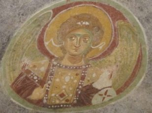 Angel fresco, Church of St Nicholas, Myra, Turkey